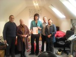 Devizes Fairtrade Group members with Claire Perry