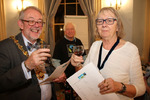 Devizes Mayor and Mayoress tasting Fairtrade wine